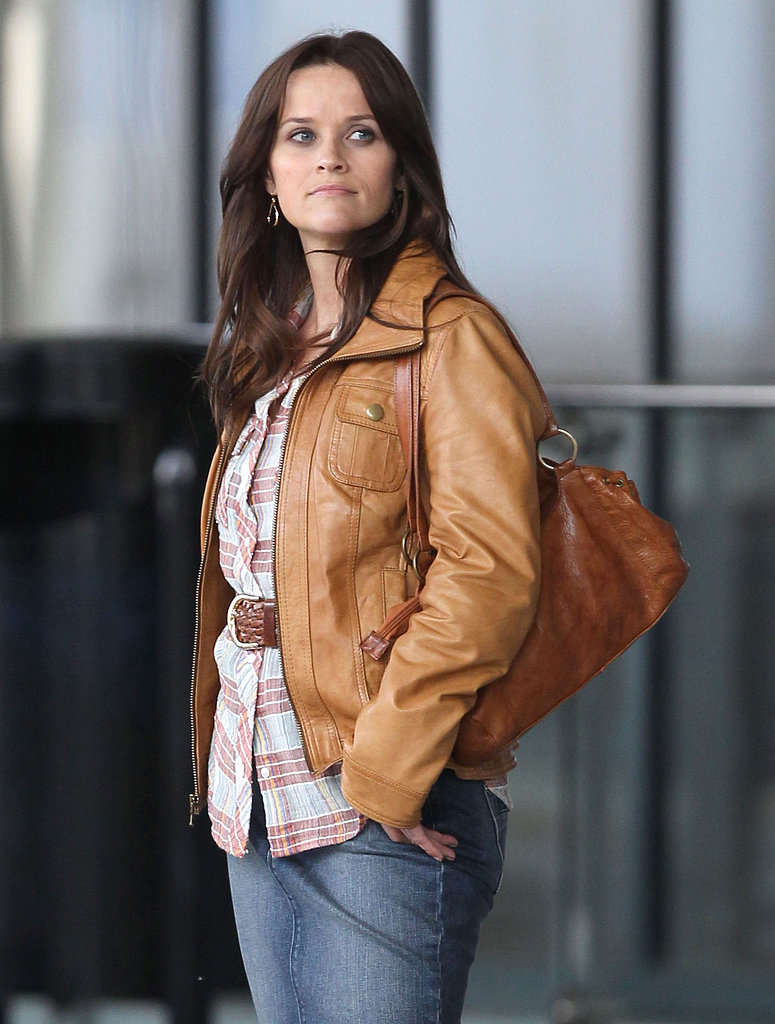 Reese Witherspoon got back to work Monday on the Atlanta set of her movie The Good Lie.