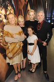 Miuccia Prada smiled with Catherine Martin, Carey Mulligan, Baz Luhrmann, and Catherine and Baz's daughter, Lillian.