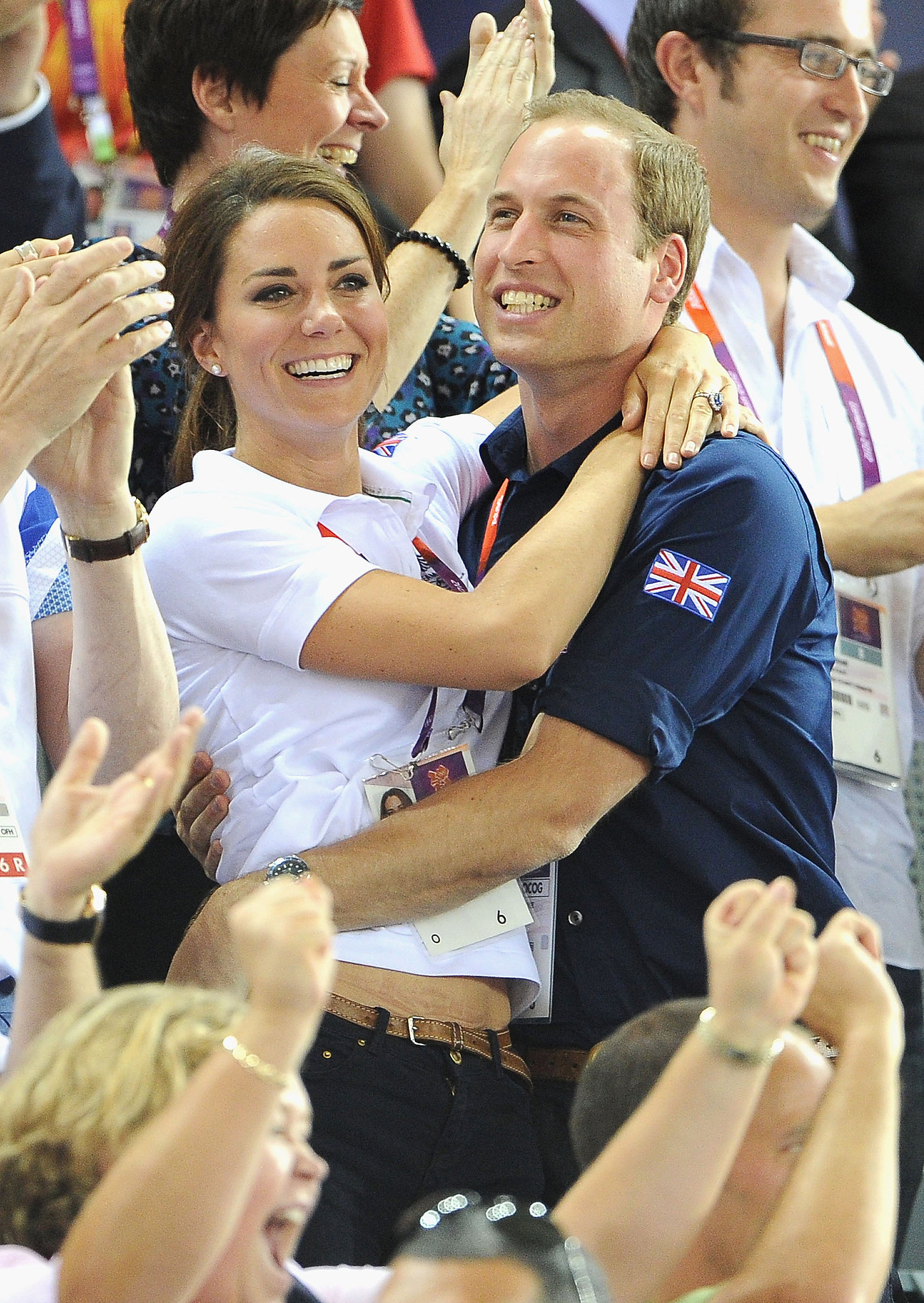 The royal couple were too cute at the 2012 Olympic Games in London.