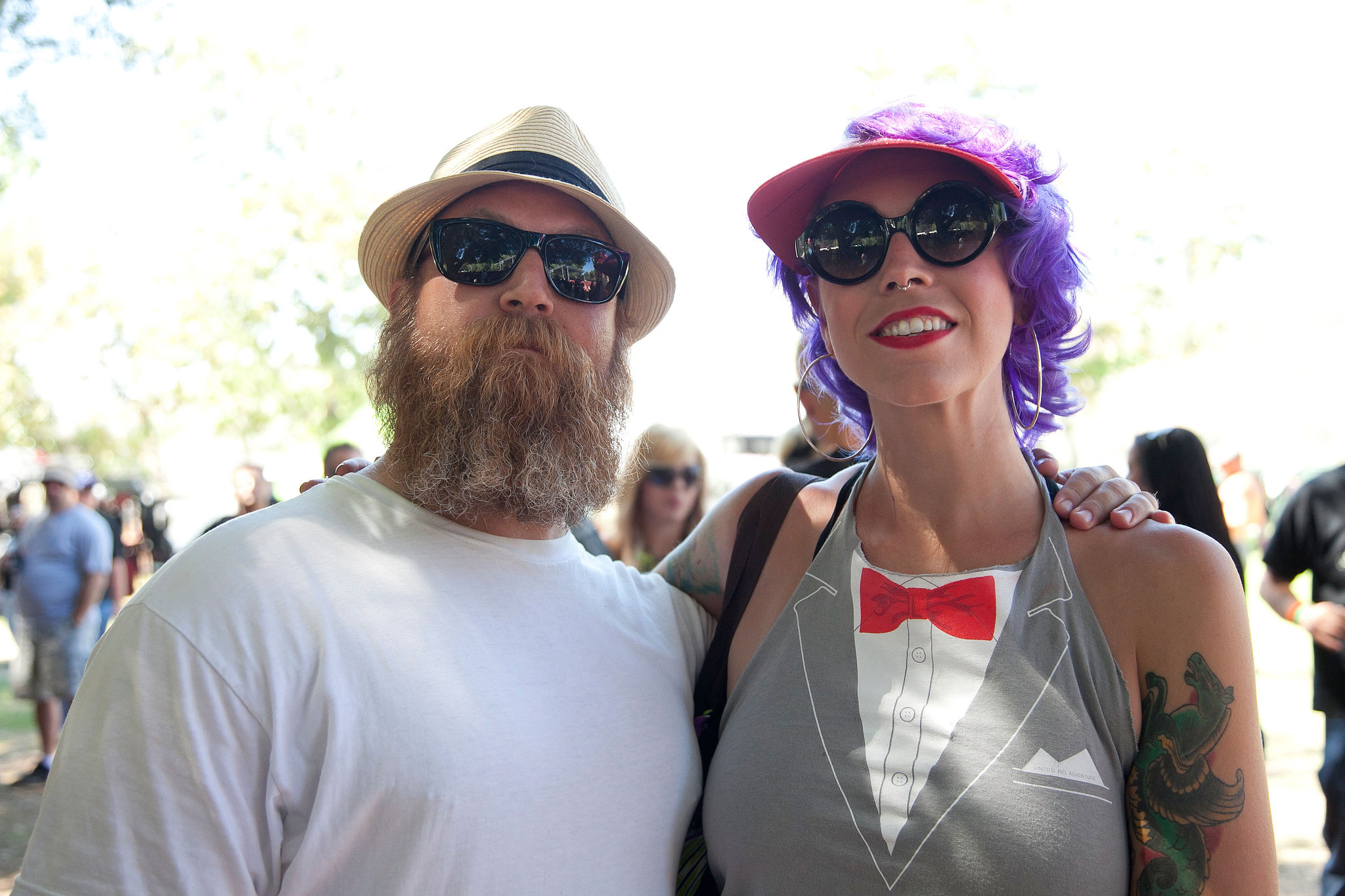 Festivalgoers showed off their flair at The Hootenanny 2012 in Orange, CA.