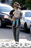 Harper Beckham Smiles Big in London With Dad David