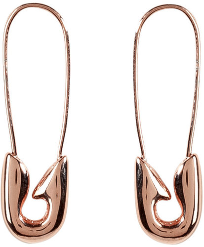 Tom Binns Rose Gold-Plated Small Safety Pin Earrings