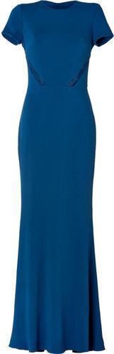 Elie Saab Lace Insert Gown in Cobalt
