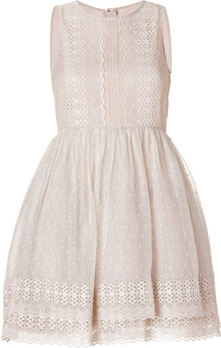 Valentino R.E.D. Embroidered Silk Tulle Dress