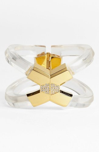 Vince Camuto 'Lucia' Clear Hinged Bangle