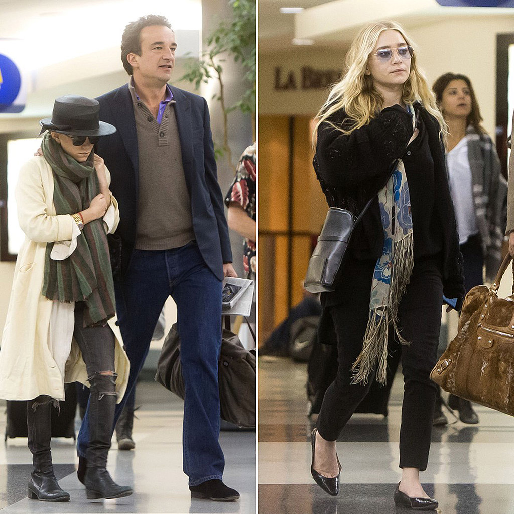 Ashley Joins Mary-Kate and Olivier at the Airport
