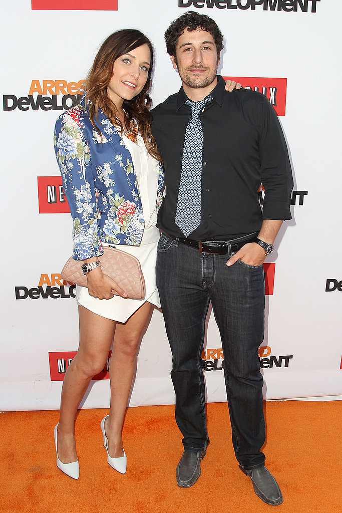 Jason Biggs attended the premiere with his wife, Jenny Mollen.