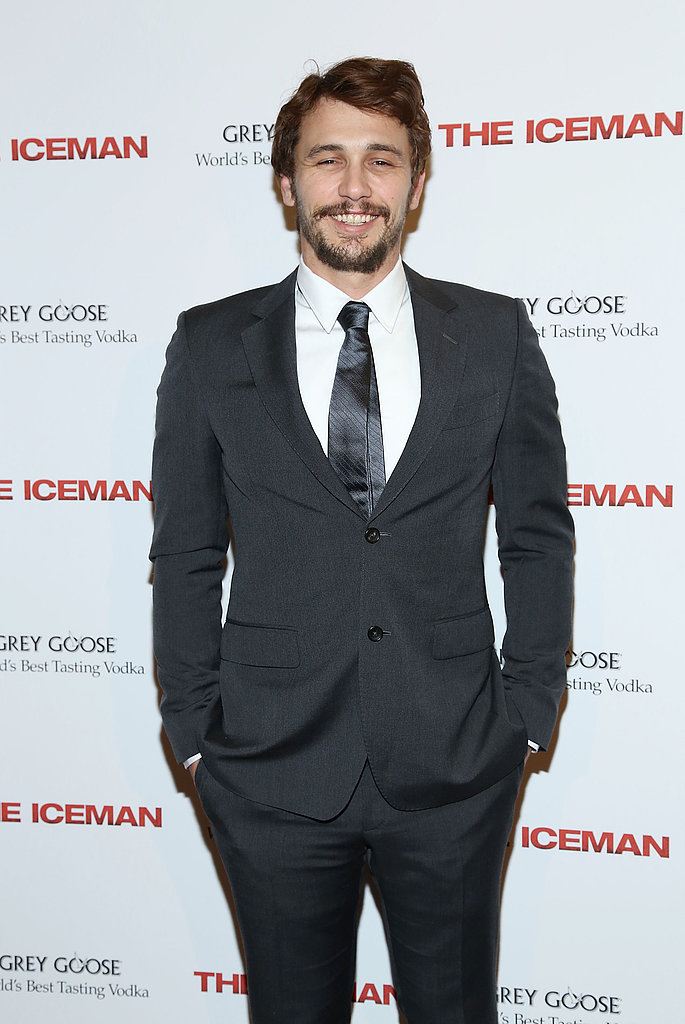 James Franco smiled on the red carpet for a screening of The Iceman in NYC.