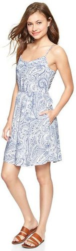 Printed spaghetti-strap dress