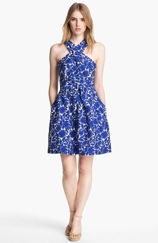 Mcginn &#039;Serafina&#039; Print Halter Dress