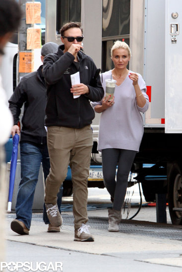 Cameron Diaz got back to work in NYC on Tuesday for The Other Woman.