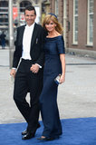 Dutch celebrity Daphne Deckers attended with her husband, former tennis star Richard Krajicek.