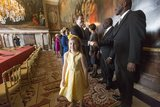 Princess Alexia attended the Act of Abdication ceremony.