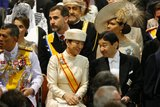 Crown Prince Naruhito and Crown Princess Masako of Japan sat down in New Church for the ceremony.