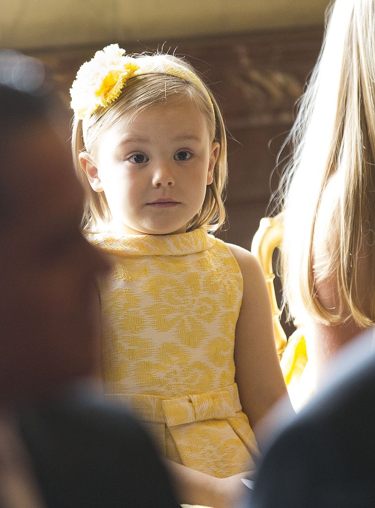 Princess Ariane was too cute in her yellow getup.