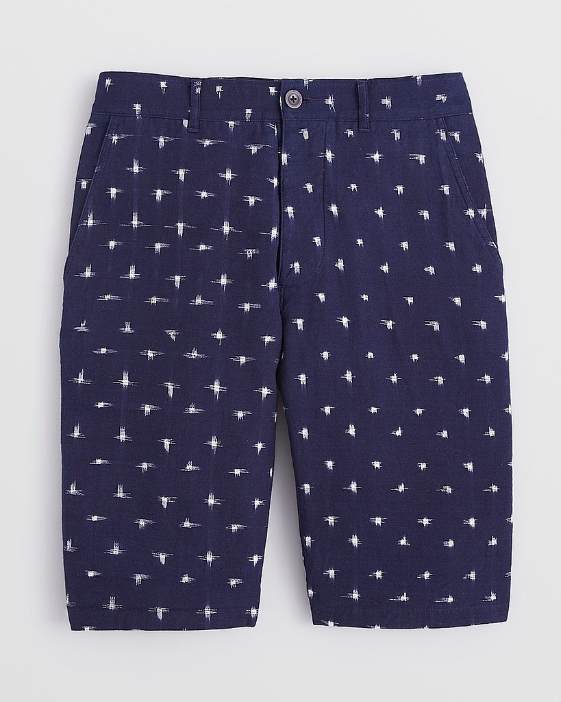 If, like me, you're the kind of guy who wants to experiment with patterns, but doesn't want to be the guy whose pants are festooned with embroidered sailboats or lobsters, a pair like these Ikat Shorts from Wings + Horns ($185) are a good way to ease into the trend. — Justin Fenner