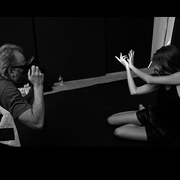 Johan Lindeberg shot a portrait story with Gisele Bündchen for BLK DNM. Source: Instagram user blkdnm
