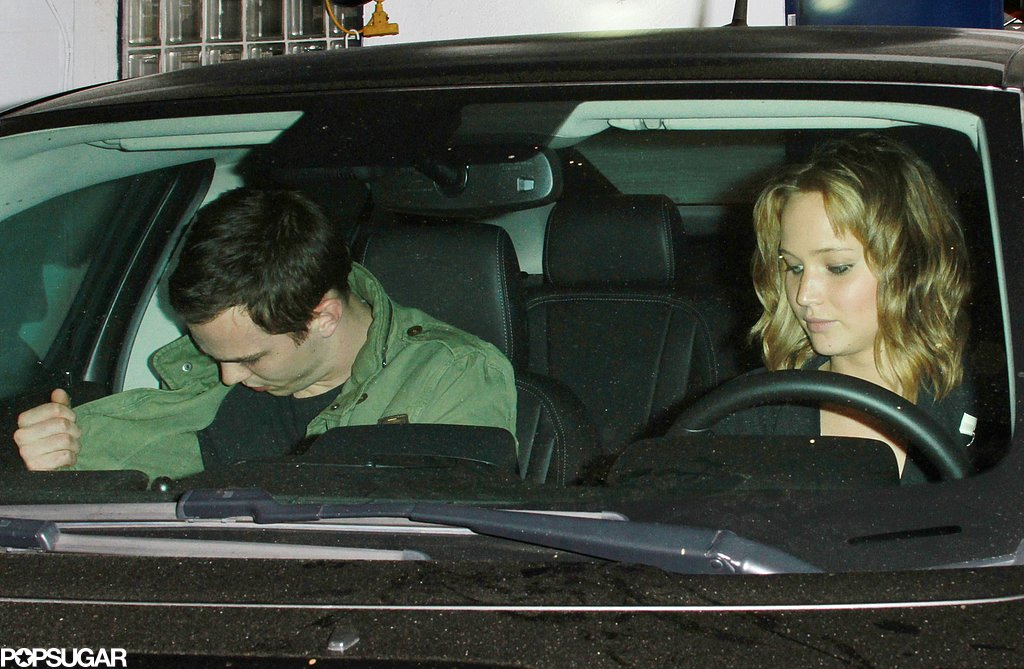 Jennifer Lawrence and Nicholas Hoult got into a car after eating dinner together.