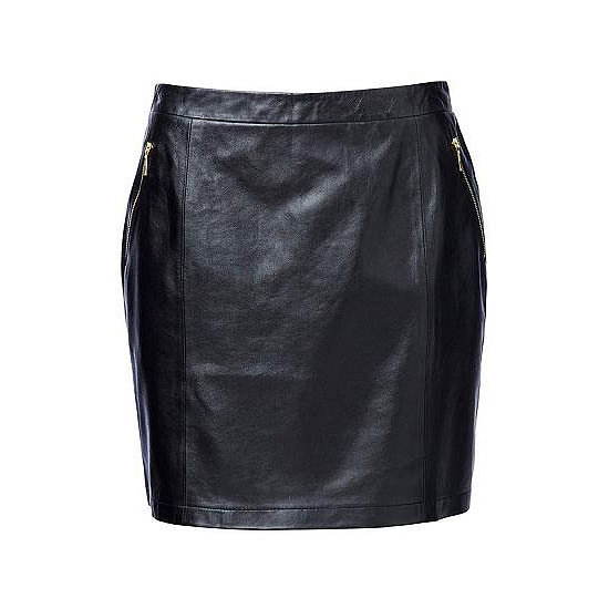 The Slick Leather Skirt