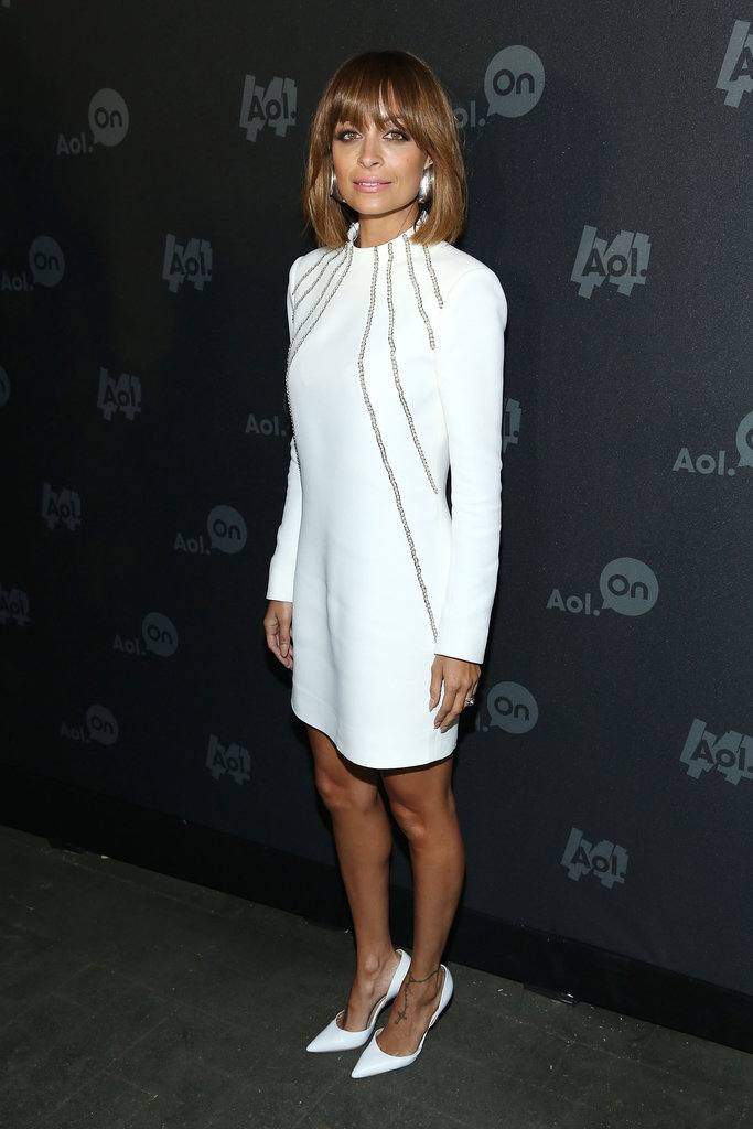 Nicole Richie wore a long-sleeved dress.