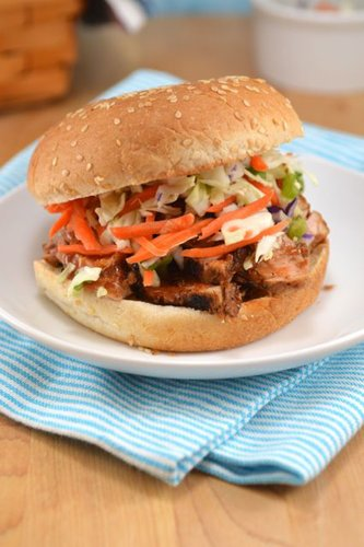 30-Minute BBQ Pork Sandwich