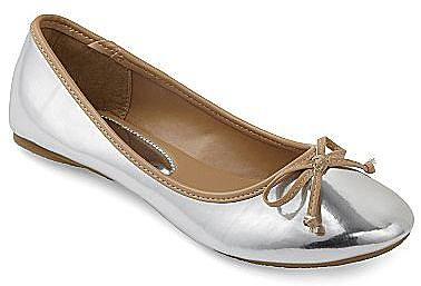 Mirror Metallic Ballet Flats