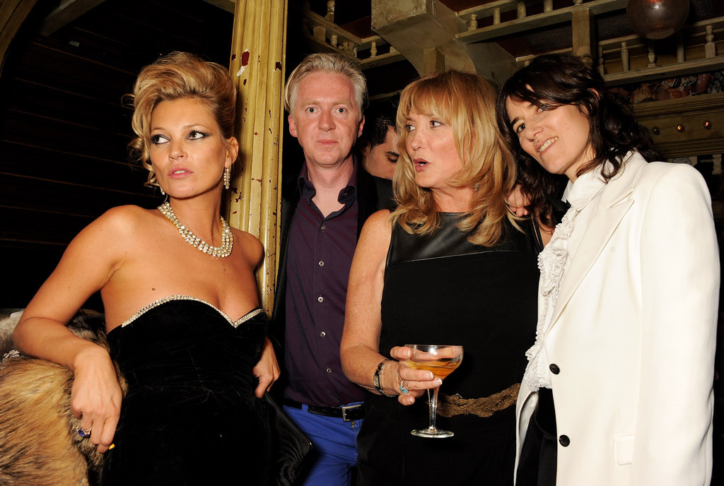 Kate Moss, Philip Treacy, Linda Moss, and Bella Freud enjoyed the festivities.