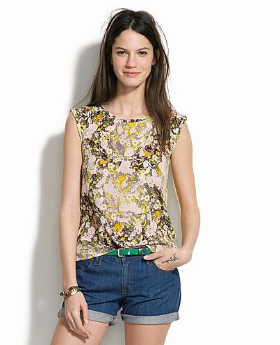 Florals are the quintessential Summer print, so get in on the feminine look via this Madewell silk floral tank ($24, originally $48). To edge it up a bit, just add leather bottoms: skirt, shorts, or pants.