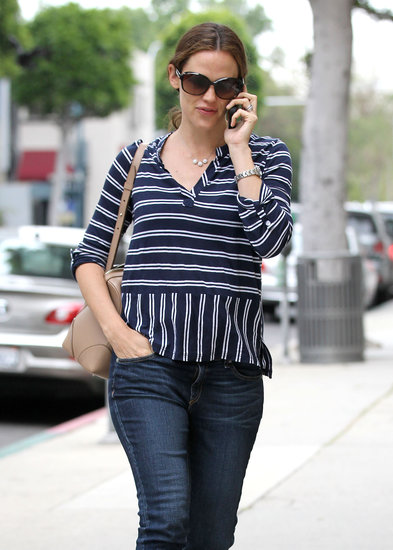 Jennifer Garner ran errands in Beverly Hills.
