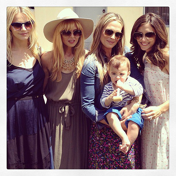 Brooks Stuber joined his mama, Molly Sims, and Rachel Zoe, Kelly Sawyer, and more for a Mother's Day garden party. Source: Instagram user rachelzoe