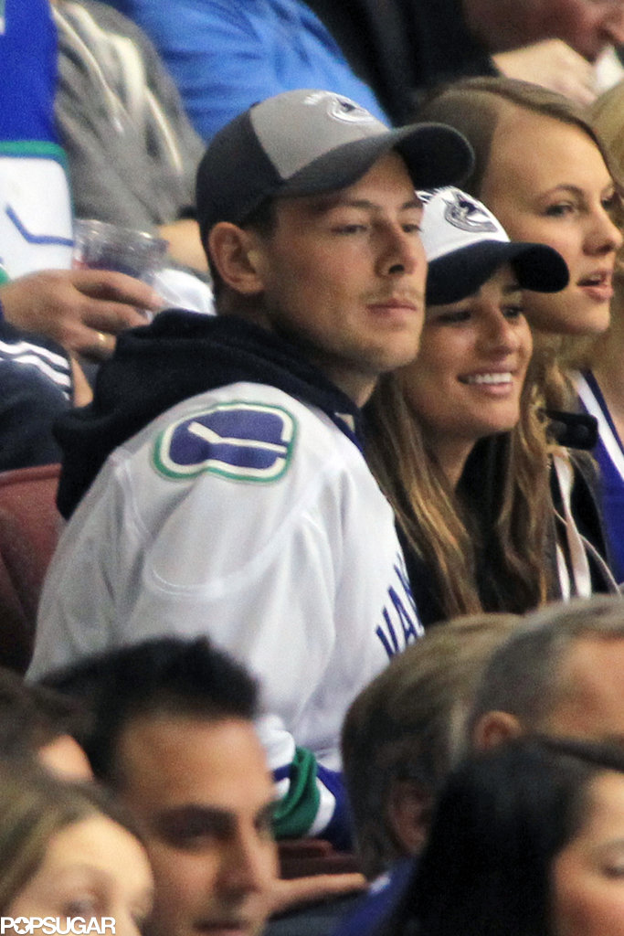 Lea Michele and Cory Monteith watched the Vancouver Canucks play in the NHL Playoffs.