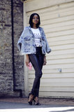Give your Spring look a '90s update with an acid-wash jacket and skinny leather pants to go with your favorite tees. Source:Lookbook.nu