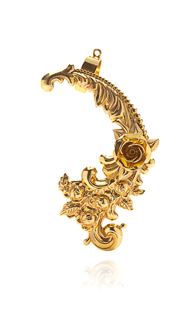 Mordekai Gold Plated Baroque Ear Cuff ($350)