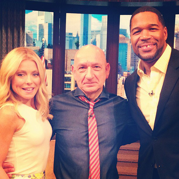 Ben Kingsley stopped by Kelly and Michael to promote Iron Man 3. Source: Instagram user kellyandmichael