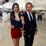 David Spade pilot-suited up for a Funny or Die video. Source: Instagram user davidspade