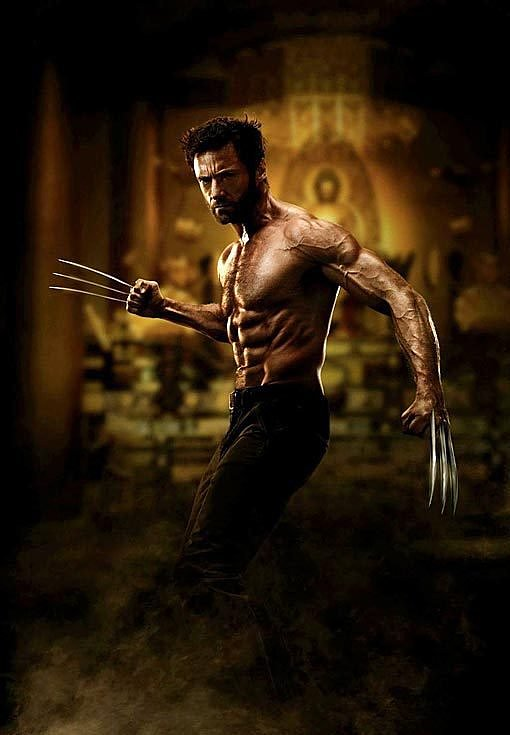 Hugh Jackman as Wolverine So long, Jean Valjean! Hugh Jackman ditched his Les Misérables diet, and he's back as one seriously sexy superhero in this Summer's The Wolverine. (Cough, abs, cough.)