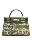 32 Kelly Graffiti'd by Haculla Bag ($16,500)