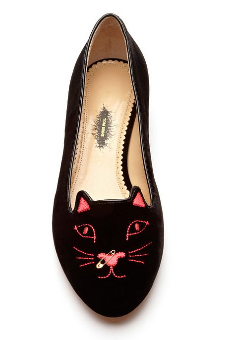 Charlotte Olympia X Tom Binns Kitty Anarchy Flat ($695)