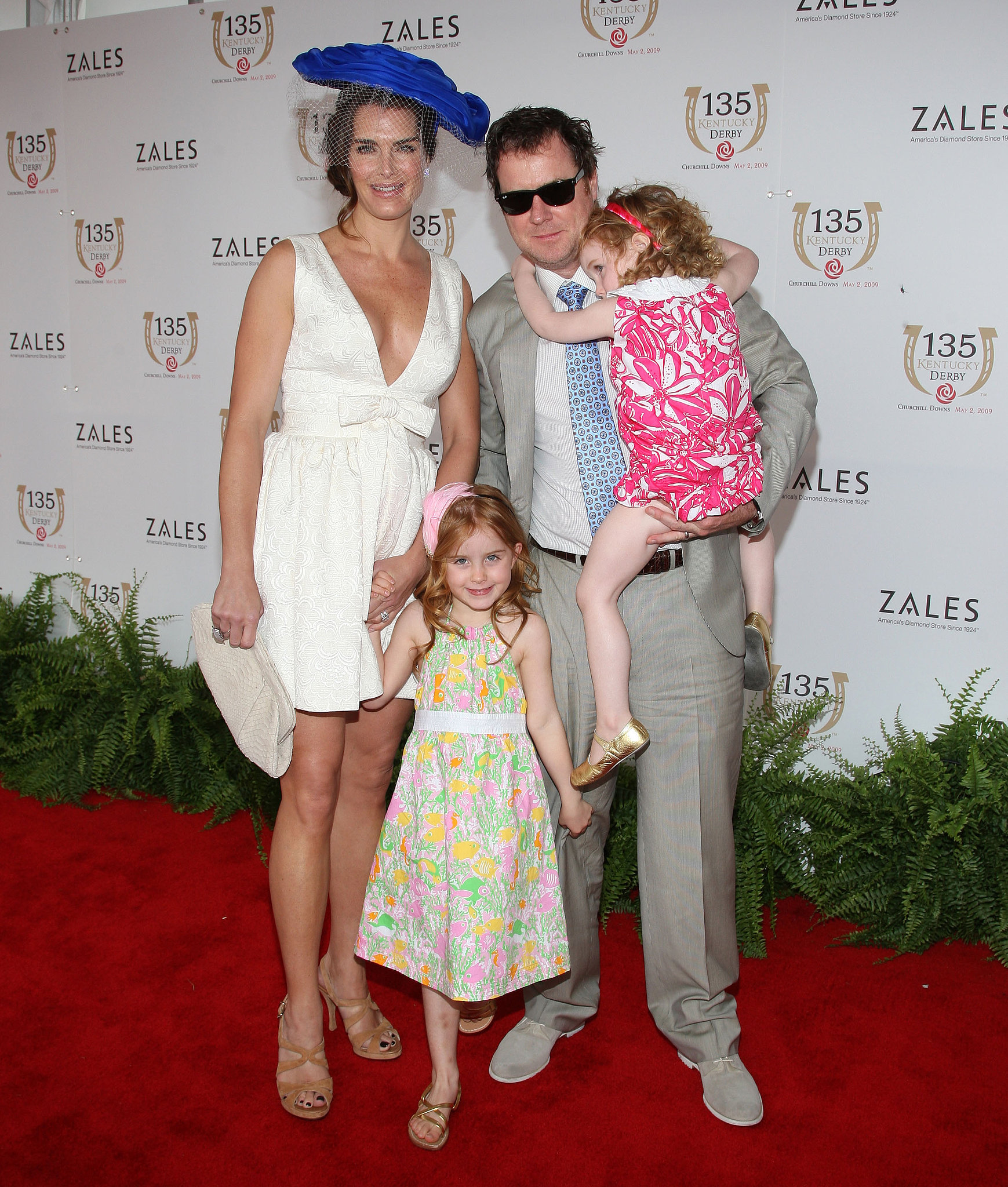 Brooke Shields brought her whole family to Kentucky for the 2009 Derby fun.
