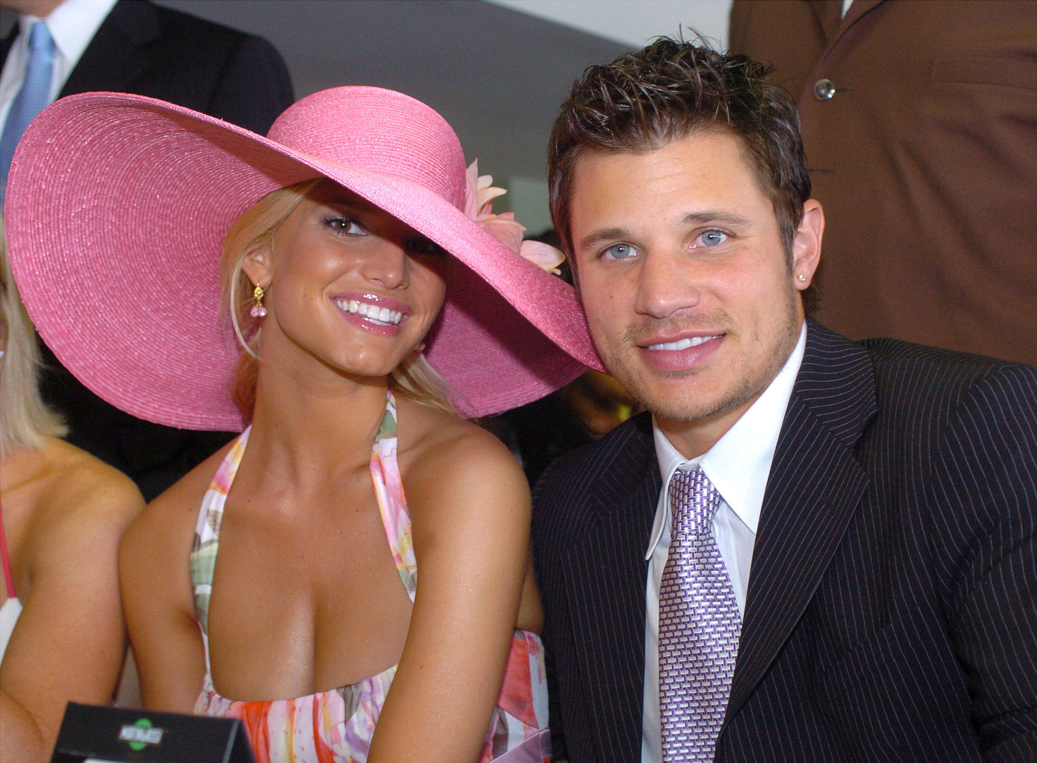 Jessica Simpson and Nick Lachey got in on the fun in 2004.