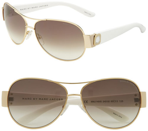 MARC BY MARC JACOBS 60mm Metal Aviators with Resin Temples