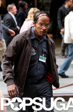 Jamie Foxx got into character with a combover on the set of The Amazing Spider-Man 2 in NYC on Sunday.