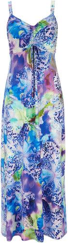 Tropical Print Petite Maxi Dress