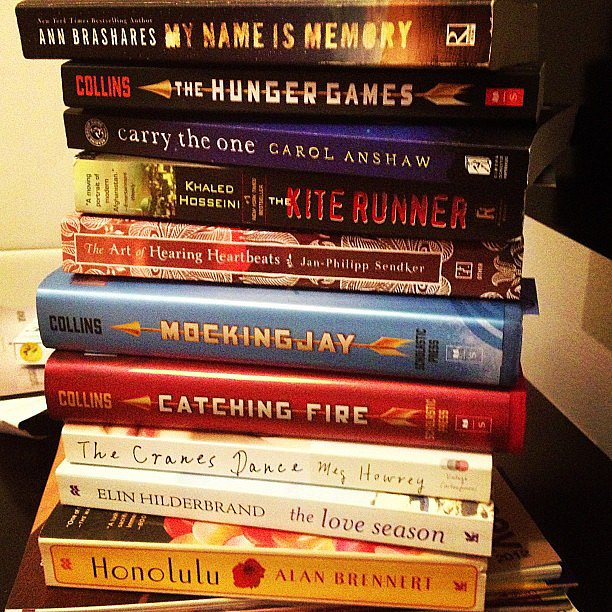 Taniaeden shared a stack of books.