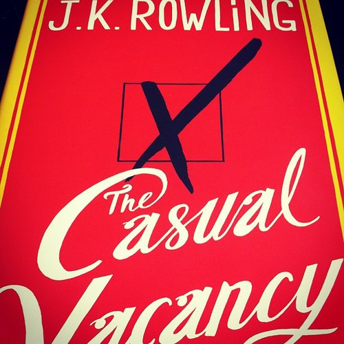 Mandicoyne picked up J.K. Rowling's The Casual Vacancy.
