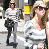 Nicky Hilton strolled NYC in an all-gray ensemble with black accessories — leather Proenza Schouler satchel, Isabel Marant sneakers, and Childen of California ($180) sunglasses by Westward Leaning.