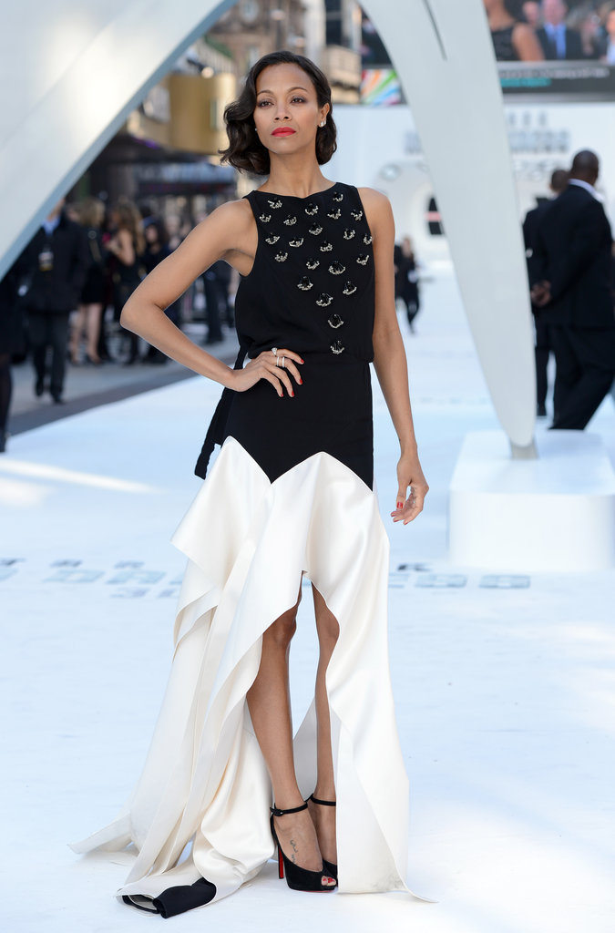 Zoe Saldana wore Pre-Fall 2013 Vionnet at the Star Trek Into Darkness UK premiere in London.
