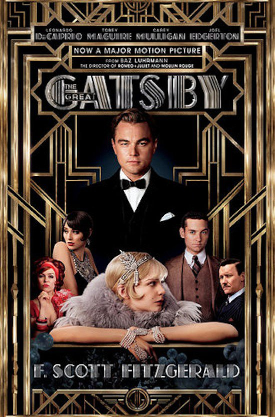The latest Gatsby cover for the upcoming movie features famous faces like Leonardo DiCaprio and Carey Mulligan.