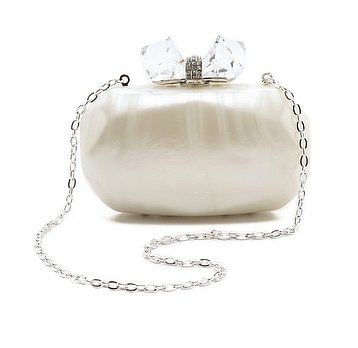 We have no doubt that Overture Judith Leiber's resin clutch ($295) will illuminate your beautiful evening.