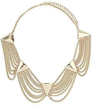 Triangle loop collar necklace